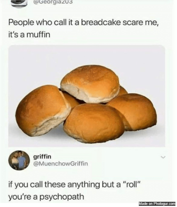 People who call it a breadcake scare me, it's a muffin