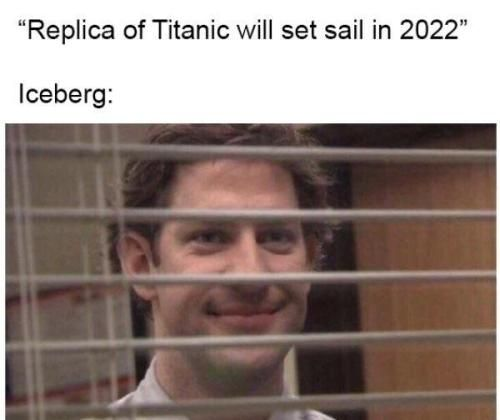 """Replica of Titanic will set sail in 2022"" Iceberg:"