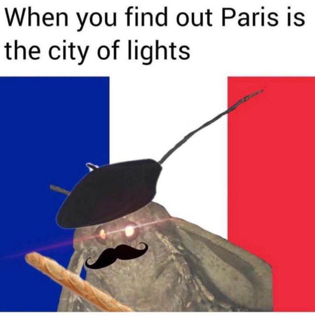 When you find out Paris is the city of lights