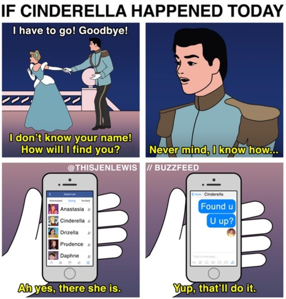 IF CINDERELLA HAPPENED TODAY  I have to go! Goodbye!
